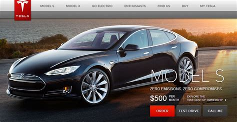 How Much Is A Tesla Electric Car Tesla Model S For 500 Per Month No Just No