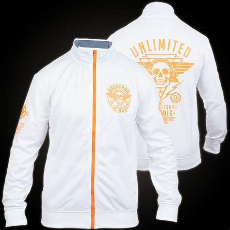 design track jacket ecko unltd corrupting minds zip jacket white track