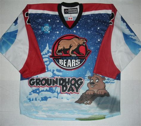 groundhog day auction nate schmidt hershey bears groundhog day autographed