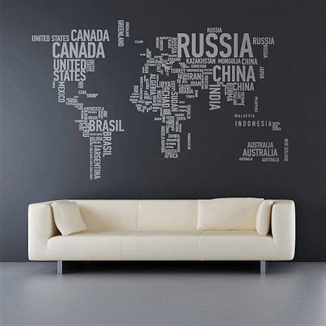 world wall stickers world map wall decal