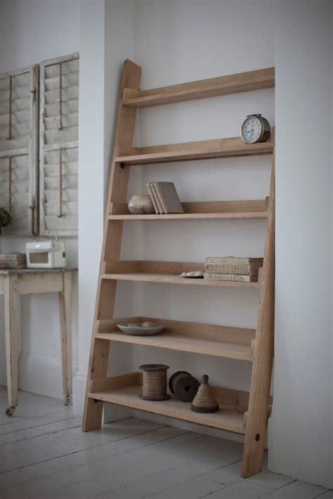 objects  design  large oak shelf ladder mad