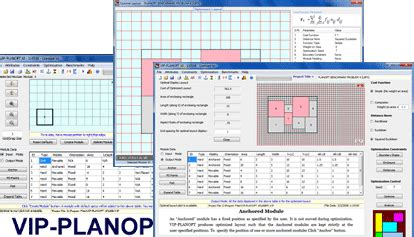 layout optimisation software engineering optimization software vip planopt overview
