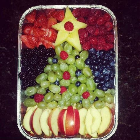 christmas tree fruit salad desserts pinterest