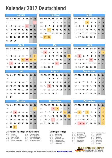 Ausdrucken Kalender 2017 Kalender 2017 Zum Ausdrucken Pdf Vorlagen