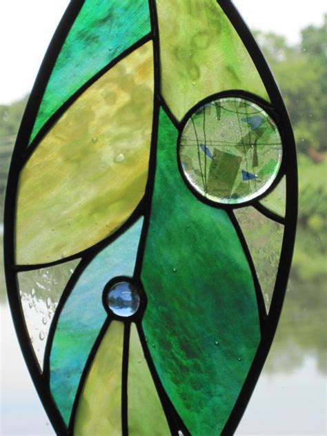 leaf pattern for stained glass stained glass large leaf window ornament