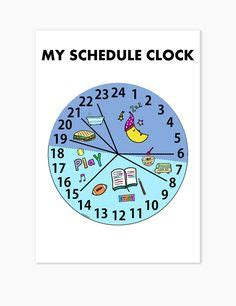 printable turning schedule clock simple clock schedule for kids clocks spanish and school