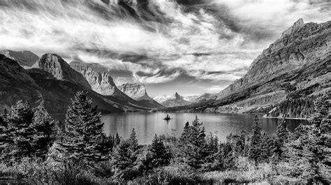 Landscape Photography Glacier National Park Black White Landscape Budlong Photography