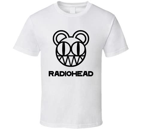 Radiohead Band Musik radiohead rock band logo white t shirt