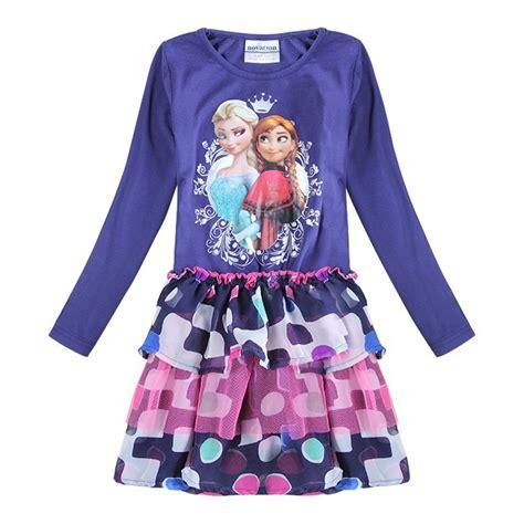 Dress Untuk Anak Perempuan anak elsa dress untuk anak perempuan pesta balita putri gaun pakaian anak anak gadis
