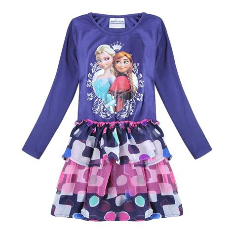 Dress Pesta Anak Dress Jacquard Anak anak elsa dress untuk anak perempuan pesta balita putri gaun pakaian anak anak gadis