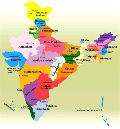 indian states the linguistic division of states in india indian states