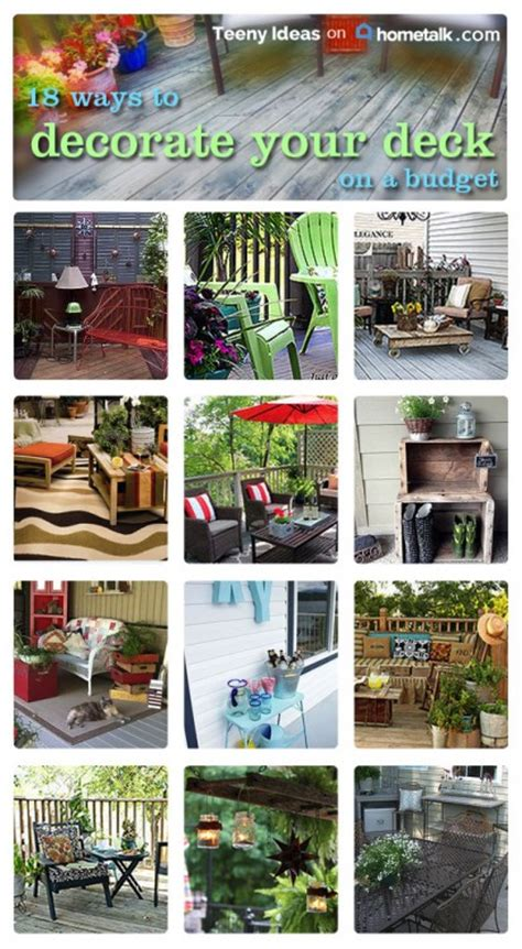 ways  decorate  deck   budget teeny ideas