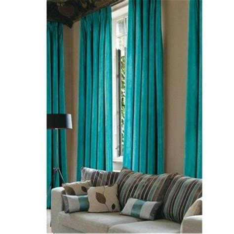 Buy Teal Curtains Buy Faux Suede Blackout Curtains Teal Curtains The