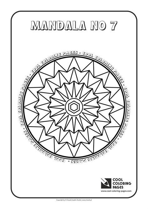 mandalas cool coloring pages
