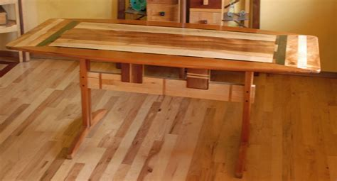cedar dining room table custom made trestle dining room table in koa and spanish