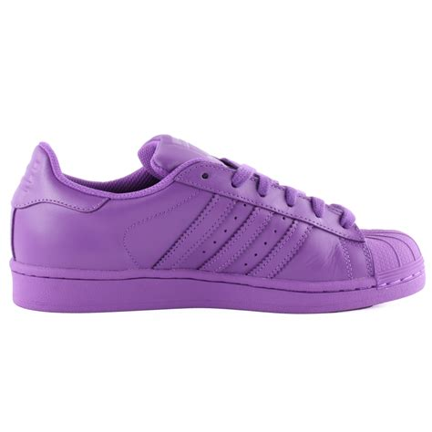 Adidas Superstar Supercolour by Adidas Superstar Supercolour Mens Leather Purple Trainers
