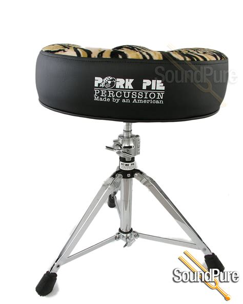 Pork Pie Drum Stool by Pork Pie Big Boy Motorcycle Drum Throne Black Tiger