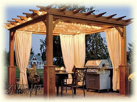 Pergola With Curtains Outdoor Curtains For Pergola Schwep