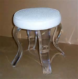 Acrylic vanity stool b017 419 00 acrylics of naples acrylic