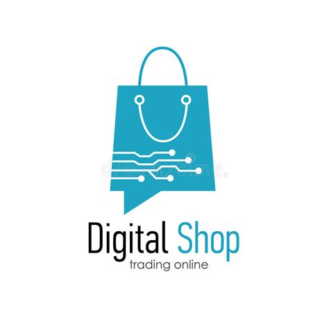 digital shop digital shop logo design template stock vector