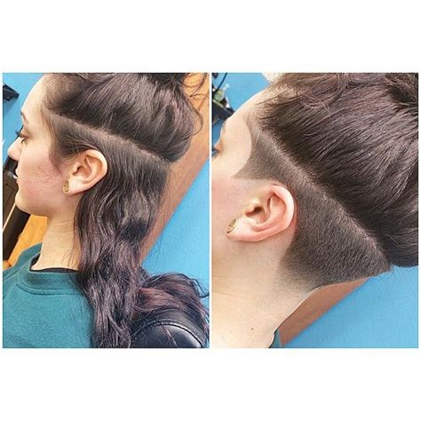 womens hair shaved just above ears 25 melhores ideias de cabelo raspado do lado no pinterest