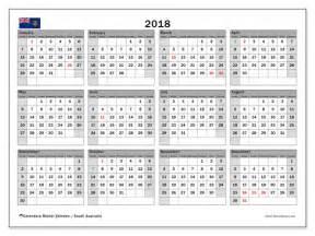 Australia Calendario 2018 Calendar 2018 South Australia