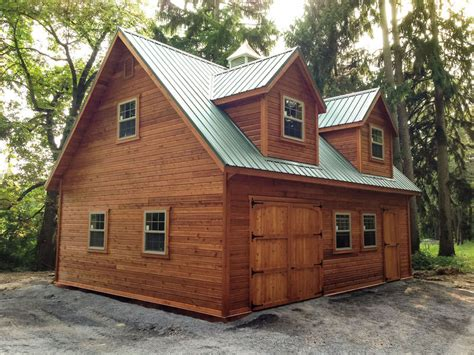 Two Level Storage Shed by Amish Barn Construction Woodwork In Oneonta Ny Amish