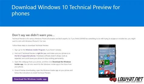 announcing the first build of windows 10 technical preview windows 10 technical preview for phones now available for
