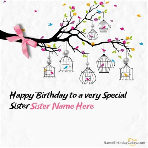 Birthday Card Template Skster by Write Name On Special Birthday Card Happy