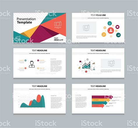 slide template abstract business presentation slide template stock vector