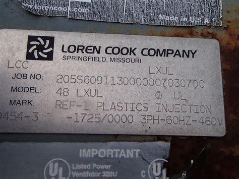 loren cook exhaust fans loren cook propeller exhaust fan 48lxul