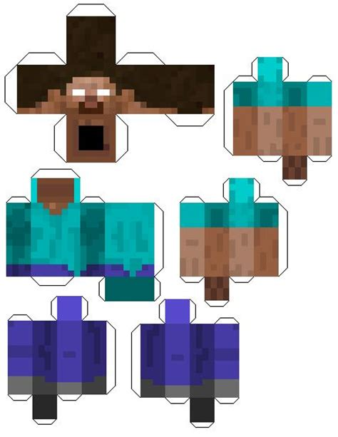 images  herobrine  pinterest papercraft