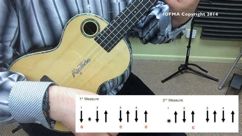 strumming pattern for yellow ukulele la bamba strum pattern ukulele tutorial video youtube