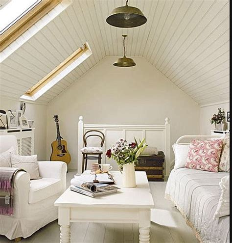 White Tongue And Groove Ceiling by White Tongue Groove Pitched Ceiling For The Home