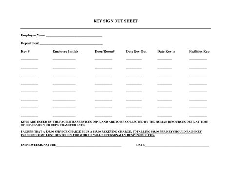 key sign out form template best photos of uniforms sign out sheet template