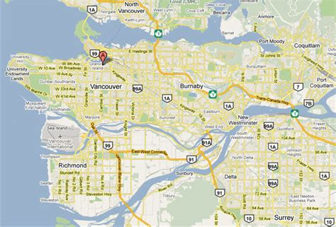 map of vancouver map of vancouver tourist travelquaz