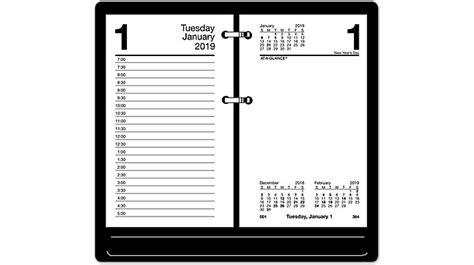 At A Glance Daily Desk Calendar Refill by Recycled Daily Desk Calendar Refill E717r At A Glance