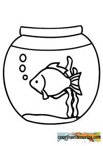 fish bowl coloring page free coloring pages of fishbowl