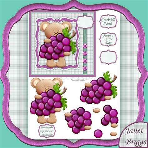 free decoupage downloads get well grapes decoupage printed sheet 459kw