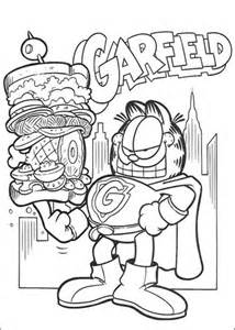 garfield coloring pages games super garfield coloring page free printable coloring pages