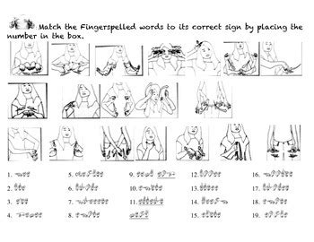 Pdf Master Asl Level One Textbook by Clothing Fingerspelling Matching By Mz Murphy Asl Tpt
