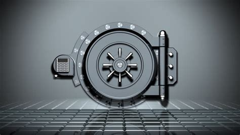 bank vault transition hd 3d transition of a bank vault door opening with the