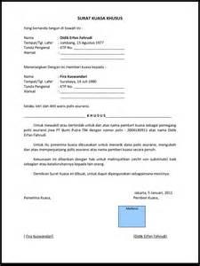 contoh surat kuasa berbagai format terbaru