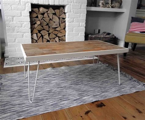 Picture Of Coffee Table With Hairpin Legs Diy Hairpin Leg Coffee Table