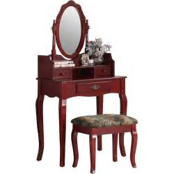 Makeup Vanity Set Wayfair Roundhill Furniture Ribbon Wood Makeup Vanity Set With