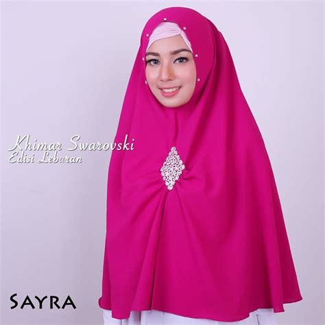 Pasmina Instan Cempaka Swarovski Ori Sayra jual khimar swarovski by sayra toko jilbab branded instan kerudung terbaru
