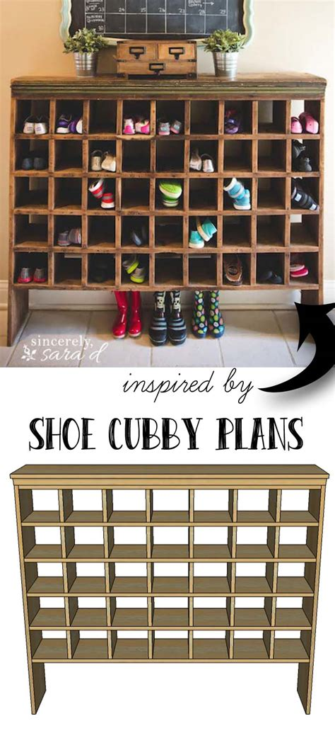 Building A Shoe Rack by Build Your Own Shoe Cubby With Remodelaholic Sincerely