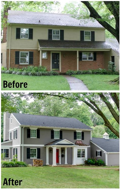 before and after home exteriors updating a traditional two story house in delaware