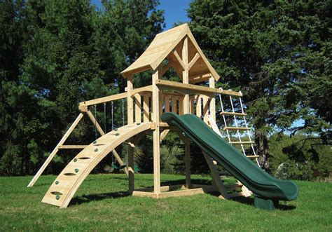 swing sets with sandbox cedar swing sets the havendale climber play set