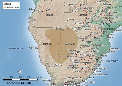 kalahari desert map the gallery for gt kalahari desert map